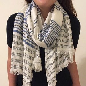 NWT! LOFT Striped Scarf